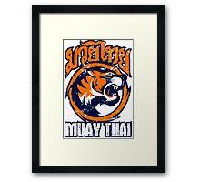tiger sagat muay thai 4 thailand martial art Framed Print