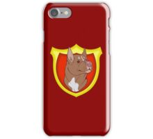 Pit Bull Pride- Red Point with Crest iPhone Case/Skin