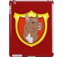 Pit Bull Pride- Red Point with Crest iPad Case/Skin