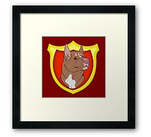 Pit Bull Pride- Red Point with Crest Framed Print