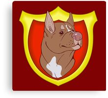 Pit Bull Pride- Red Point with Crest Canvas Print