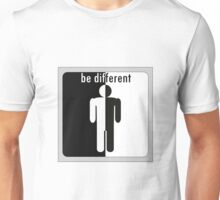 Be different. man divided in black and white Unisex T-Shirt