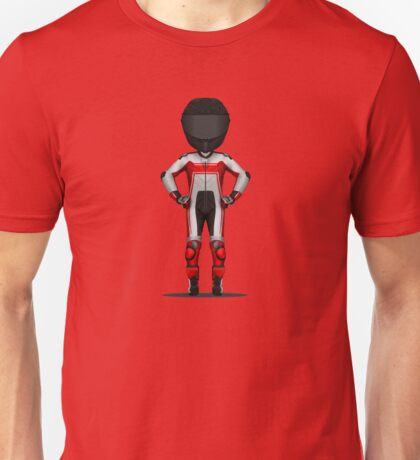 Red Motorcycle Rider Unisex T-Shirt
