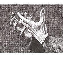 Pleading Hands Photographic Print