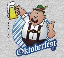 Oktoberfest - man in lederhosen by cardvibes