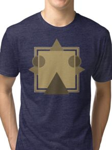 Caravan Palace - Robot Face / <|°_°|> - Album Art Re-Imagined Tri-blend T-Shirt