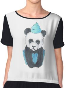Panda Cupcake Chiffon Top