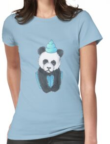 Panda Cupcake Womens Fitted T-Shirt