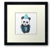 Panda Cupcake Framed Print