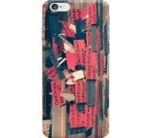 Quote Barricade iPhone Case/Skin