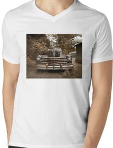 Abandoned 1948 Cadillac Limo Mens V-Neck T-Shirt