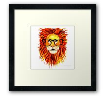 Monsieur Lion - For all my geeks out there Framed Print