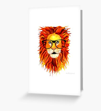 Monsieur Lion - For all my geeks out there Greeting Card