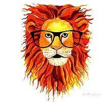 Monsieur Geek Lion Photographic Print