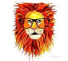 Monsieur Lion - For all my geeks out there Photographic Print
