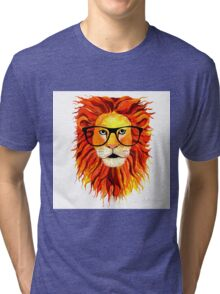 Monsieur Geek Lion Tri-blend T-Shirt