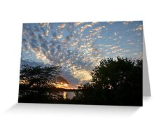 Sunset Across Mozingo Lake Greeting Card