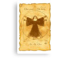 Vitruvian Nun Canvas Print