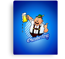 Oktoberfest - man in lederhosen Canvas Print