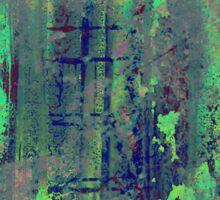 Aqua Abstract Sticker