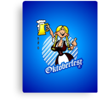 Oktoberfest - girl in a dirndl Canvas Print