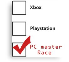 PC Master Race 2 Canvas Print