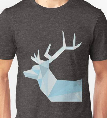Geometric Ice Stag and Antlers  Unisex T-Shirt