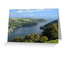 The River Dart Estuary. Greeting Card