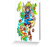 Jak and Daxter - Precursor Legacy Greeting Card