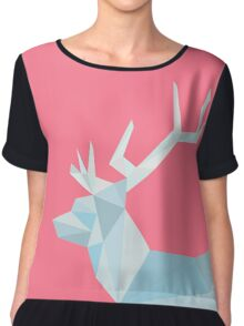 Geometric Ice Stag and Antlers  Chiffon Top