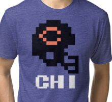 Tecmo Bowl Chicago Football 8-Bit NES Nintendo Pixel T Shirt Tri-blend T-Shirt