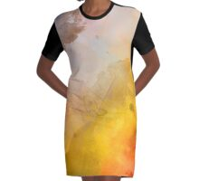 Helix Nebula Close Up Watercolour Graphic T-Shirt Dress
