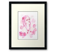 Gerbera Girl / watercolour Framed Print