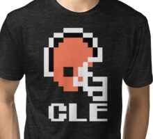 Tecmo Bowl Cleveland Football 8-Bit NES Nintendo Pixel T Shirt Tri-blend T-Shirt