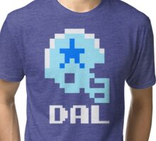 Tecmo Bowl Dallas Football 8-Bit NES Nintendo Pixel T Shirt Tri-blend T-Shirt