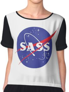 SASS - sassy, feminist, girl geek, nerdy, female scientist gift, nasa gift, astronaut gift, space, cosmos, galaxy Chiffon Top