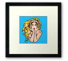 Face Mask Framed Print