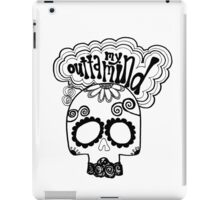 """Outta My Mind"" Hipster Skull iPad Case/Skin"