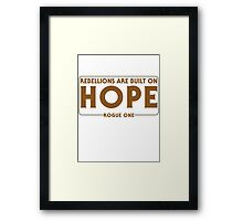 Built On Hope Framed Print