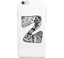 "Hipster Letter ""Z"" Zentangle iPhone Case/Skin"