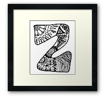 "Hipster Letter ""Z"" Zentangle Framed Print"