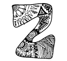 "Hipster Letter ""Z"" Zentangle Photographic Print"