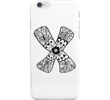 "Hipster Letter ""X"" Zentangle iPhone Case/Skin"