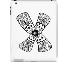 "Hipster Letter ""X"" Zentangle iPad Case/Skin"