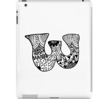 "Hipster Letter ""W"" Zentangle iPad Case/Skin"