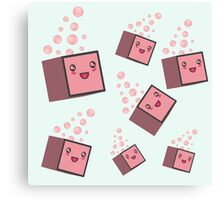 cute fizzy pink cubes Canvas Print