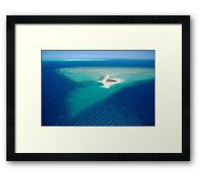 Remote sand cay Framed Print