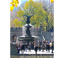Angel in Central Park, New York City  Photographic Print