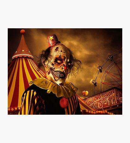 Terrorific Clown Halloween 2016 Photographic Print