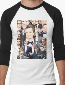 colin firth collage Men's Baseball ¾ T-Shirt